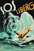 "Movie Posters:Adventure, S.O.S. Iceberg (Universal, 1933). Swedish One Sheet (27.5"" X39.5""). ..."