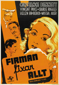 """Movie Posters:Comedy, Service de Luxe (Universal, 1938). Swedish One Sheet (27.5"""" X39.5""""). ..."""