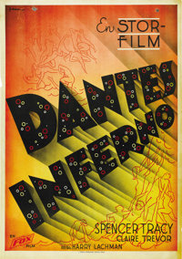 "Dante's Inferno (Fox, 1935). Swedish One Sheet (27.5"" X 39.5"")"