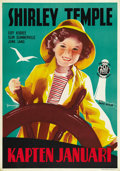 "Movie Posters:Drama, Captain January (20th Century Fox, 1936). Swedish One Sheet (27.5""X 39.5""). ..."