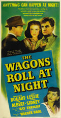 "Movie Posters:Drama, The Wagons Roll at Night (Warner Brothers, 1941). Three Sheet (41""X 81""). ..."