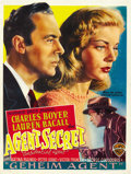 "Movie Posters:Drama, Confidential Agent (Warner Brothers, R-Late 1940s). Belgian (14"" X18""). ..."