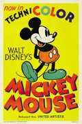 "Movie Posters:Animated, Mickey Mouse Stock Poster (United Artists, 1935). One Sheet (27"" X 41"")...."