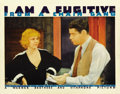 "Movie Posters:Film Noir, I Am a Fugitive from a Chain Gang (Warner Brothers, 1932). LobbyCard (11"" X 14""). ..."