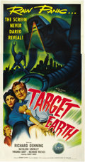 "Movie Posters:Science Fiction, Target Earth (Allied Artists, 1954). Three Sheet (41"" X 81""). ..."