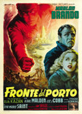 "Movie Posters:Drama, On the Waterfront (Columbia, 1954). Italian 2 - Folio (39"" X 55"")...."