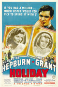 "Movie Posters:Comedy, Holiday (Columbia, 1938). One Sheet (27"" X 41""). ..."