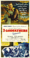 "Movie Posters:Western, Three Godfathers (MGM, 1948). Three Sheet (41"" X 81""). ..."