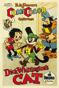 "Movie Posters:Animated, Dick Whittington's Cat (Celebrity Productions, 1936). One Sheet (27"" X 41""). ..."