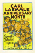 "Movie Posters:Miscellaneous, Carl Laemmle Anniversary Month (Universal, 1921). One Sheet (27"" X41""). ..."