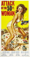 "Movie Posters:Science Fiction, Attack of the 50 Foot Woman (Allied Artists, 1958). Three Sheet(41"" X 81""). ..."