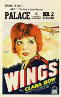 "Movie Posters:Academy Award Winner, Wings (Paramount, 1927). Window Card (14"" X 22""). ..."