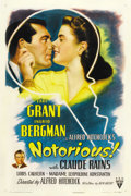 "Movie Posters:Hitchcock, Notorious (RKO, 1946). One Sheet (27"" X 41"")...."