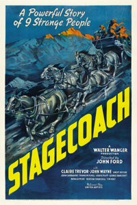 "Stagecoach (United Artists, 1939). One Sheet (27"" X 41"")"