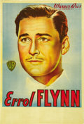 "Movie Posters:Adventure, Errol Flynn Personality Poster (Warner Brothers, 1940s).Argentinean One Sheet (29.5"" X 42""). ..."