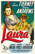 "Movie Posters:Film Noir, Laura (20th Century Fox, 1944). One Sheet (27"" X 41""). ..."
