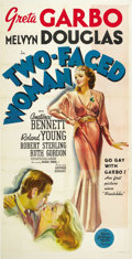 "Movie Posters:Comedy, Two-Faced Woman (MGM, 1941). Three Sheet (41"" X 81""). ..."