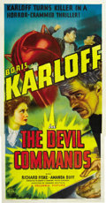 "Movie Posters:Horror, The Devil Commands (Columbia, 1941). Three Sheet (41"" X 81""). ..."