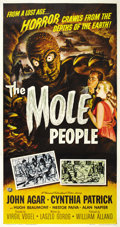 "Movie Posters:Science Fiction, The Mole People (Universal International, 1956). Three Sheet (41"" X81""). ..."