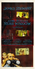 "Movie Posters:Hitchcock, Rear Window (Paramount, 1954). Three Sheet (41"" X 81"")...."