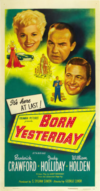 "Born Yesterday (Columbia, 1950). Three Sheet (41"" X 81"")"