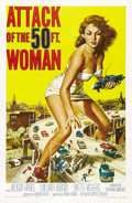 "Movie Posters:Science Fiction, Attack of the 50 Foot Woman (Allied Artists, 1958). One Sheet (27""X 41""). ..."