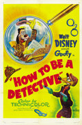 "Movie Posters:Animated, How to be a Detective (RKO, 1952). One Sheet (27"" X 41""). ..."