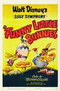 "Movie Posters:Animated, Funny Little Bunnies (RKO, R-1950). One Sheet (27"" X 41"")...."