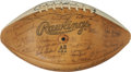 Autographs:Footballs, Circa 1977 University of Texas Longhorns Team Signed Football...