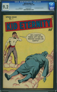 Kid Eternity #1 (Quality, 1946) CGC NM- 9.2 Off-white pages