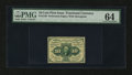 Fractional Currency:First Issue, Fr. 1240 10¢ First Issue PMG Choice Uncirculated 64....