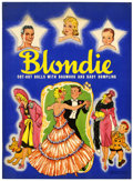 Memorabilia:Comic-Related, Blondie Cut-Out Dolls Book #982 (Whitman, 1940)....