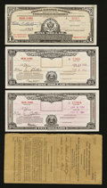 Miscellaneous:Other, Postal Savings Certificate Trio. ... (Total: 4 items)
