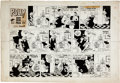 Original Comic Art:Comic Strip Art, Cliff Sterrett Polly and Her Pals Sunday Comic Strip Original Art dated 9-21-58 (King Features Syndicate, 1958)....