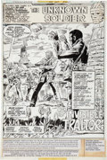 Original Comic Art:Splash Pages, Dick Ayers and Gerry Talaoc The Unknown Soldier #232 Splashpage 1 Original Art (DC, 1979)....