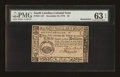 Colonial Notes:South Carolina, South Carolina December 23, 1776 $3 PMG Choice Uncirculated 63EPQ....