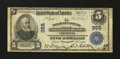 National Bank Notes:Pennsylvania, Chester, PA - $5 1902 Plain Back Fr. 598 The Delaware County NB Ch. # 355. ...