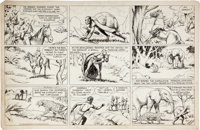 Lyman Young Tim Tyler's Luck Sunday Comic Strip Original Art dated 8-25-35 (King Features Syndicate, 1935)