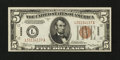 Small Size:World War II Emergency Notes, Fr. 2302 $5 1934A Hawaii Federal Reserve Note. Extremely Fine-About Uncirculated.. ...