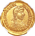 Ancients:Roman Imperial, Ancients: Valentinian III. A.D. 425-455. AV solidus (20 mm, 4.42 g,12 h)....