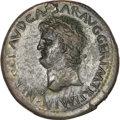 Ancients:Roman Imperial, Ancients: Nero. A.D. 54-68. AE sestertius (36 mm, 24.11 g, 7 h)....