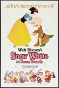 """Movie Posters:Animated, Snow White and the Seven Dwarfs (Buena Vista, R-1967). One Sheet(27"""" X 41"""") Style A. Animated.. ..."""
