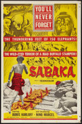"Movie Posters:Adventure, Sabaka (United Artists, 1954). One Sheet (27"" X 41""). Adventure....."