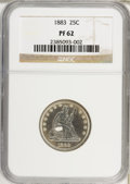 Proof Seated Quarters: , 1883 25C PR62 NGC. NGC Census: (11/239). PCGS Population (37/225).Mintage: 1,039. Numismedia Wsl. Price for problem free N...