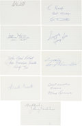 Autographs:Index Cards, Baseball Stars Signed Index Cards Lot of 21....