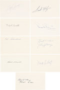Autographs:Index Cards, Baseball Stars Signed Index Cards Lot of 19....