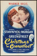 "Movie Posters:Comedy, Christmas in Connecticut (Warner Brothers, 1945). One Sheet (27"" X41""). Comedy.. ..."