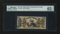 Fractional Currency:Third Issue, Fr. 1355 50¢ Third Issue Justice PMG Choice Uncirculated 63 Net....