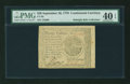 Colonial Notes:Continental Congress Issues, Continental Currency September 26, 1778 $20 PMG Extremely Fine 40EPQ....