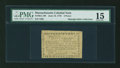 Colonial Notes:Massachusetts, Massachusetts June 18, 1776 3d PMG Choice Fine 15....
